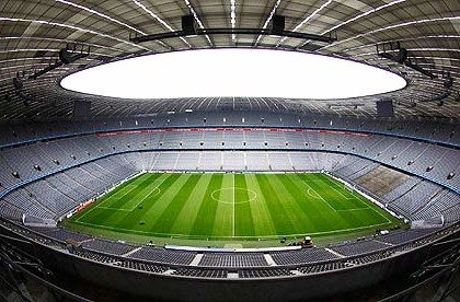 General view shows Allianz Arena stadium in Munich
